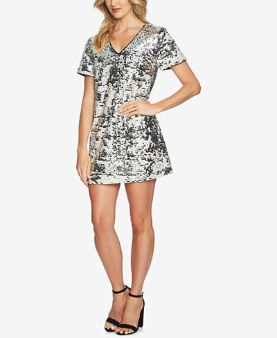 1.STATE Sequined Shift Dress