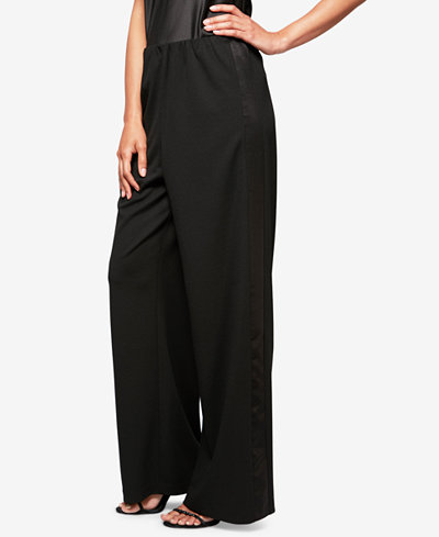 Alex Evenings Straight-Leg Tuxedo Pants