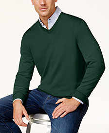 Club Room Men's Merino Performance V-Neck Sweater, Created for Macy's