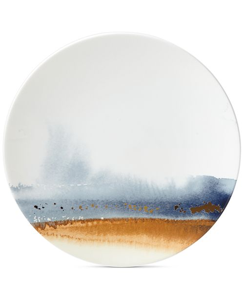 Lenox Watercolor Horizons Microwave Safe Accent/Salad Plate, Created for Macy's
