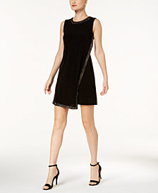 Calvin Klein Embellished Sleeveless Mini Dress