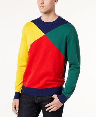 Tommy Hilfiger Mens Colorblocked Sweater Created For Macys