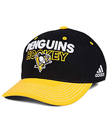 adidas Pittsburgh Penguins Locker Room Structured Flex Cap