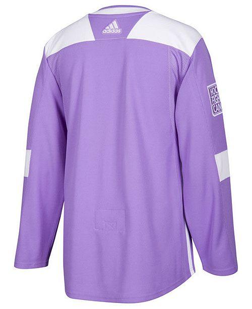 sale retailer 9de3b 4ea3e Men's Columbus Blue Jackets Authentic Hockey Fights Cancer Jersey