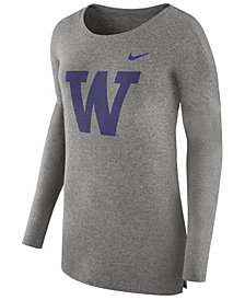 Nike Women's Washington Huskies Cozy Long Sleeve T-Shirt