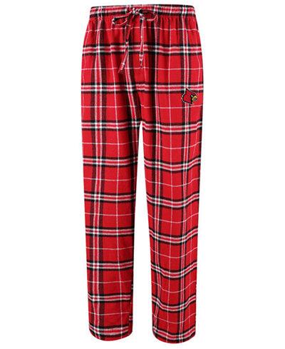 Concepts Sport Men's Louisville Cardinals Huddle Flannel Pants