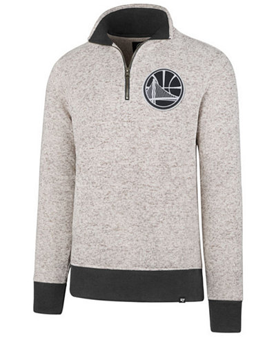 '47 Brand Men's Golden State Warriors Kodiak Tonal Quarter-Zip Pullover