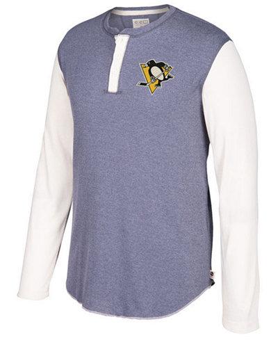 CCM Men's Pittsburgh Penguins Long Sleeve Henley Shirt