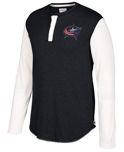 CCM Men's Columbus Blue Jackets Long Sleeve Henley Shirt