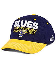 adidas St. Louis Blues Locker Room Structured Flex Cap