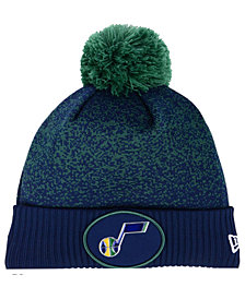 New Era Utah Jazz On-Court Collection Pom Knit Hat