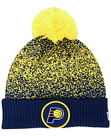 New Era Indiana Pacers On-Court Collection Pom Knit Hat