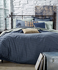 Tommy Hilfiger Blues Railroad Stripe Bedding Collection