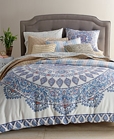 CLOSEOUT! Whim by Martha Stewart Collection Mandala Bedding Ensemble, Created for Macy's