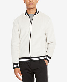 Kenneth Cole Reaction Men's Velvet Full-Zip Bomber