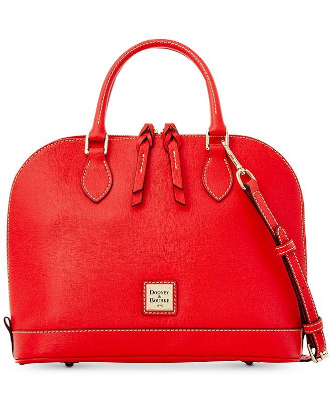 Dooney & Bourke Saffiano Leather Zip Zip Satchel