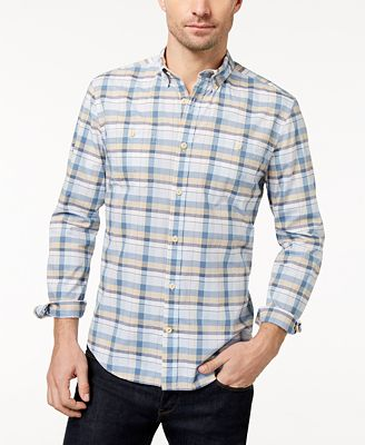 Tommy Hilfiger Men's Bruce Plaid Custom-Fit Shirt, Created for Macy's
