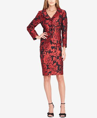 Tahari Asl Embroidered Skirt Suit Wear To Work Women Macy S