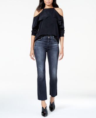 7 faded skinny ankle jeans