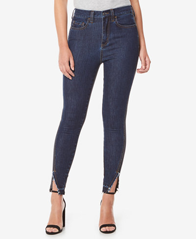 Buffalo David Bitton Ivy Split-Hem Skinny Jeans