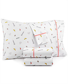 Whim by Martha Stewart  Collection Novelty Print 4-pc Queen Sheet Set, 200 Thread Count 100% Cotton Percale, Created for Macy's