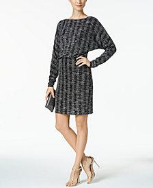 Jessica Howard Petite Metallic Blouson Sheath Dress
