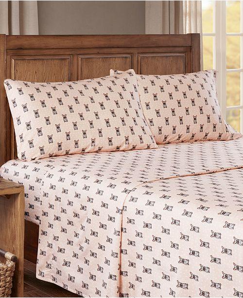 Sleep Philosophy True North Cotton Flannel 4-Piece King Sheet Set