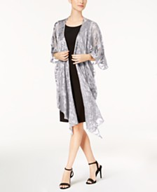 Betsey Johnson Baroque Burnout Draped Evening Wrap