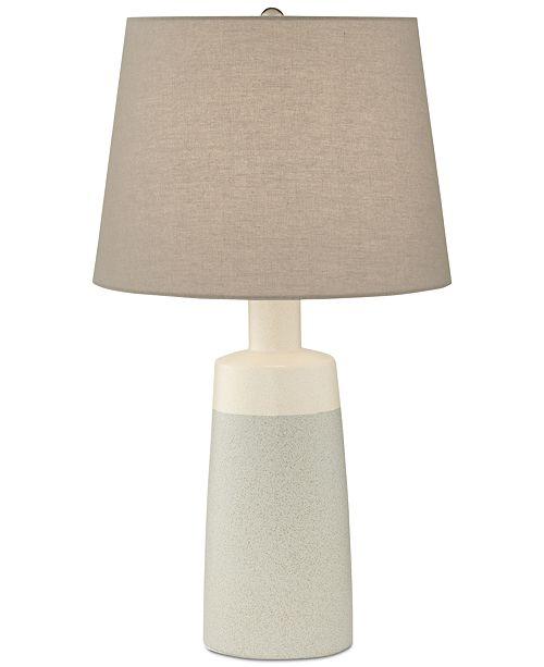 Kathy Ireland Pacific Coast Cool Grey Ceramic Table Lamp