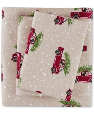 Cotton Flannel 3-Pc. Twin Sheet Set