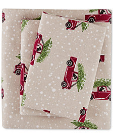 Woolrich Cotton Flannel 4-Pc. Queen Sheet Set
