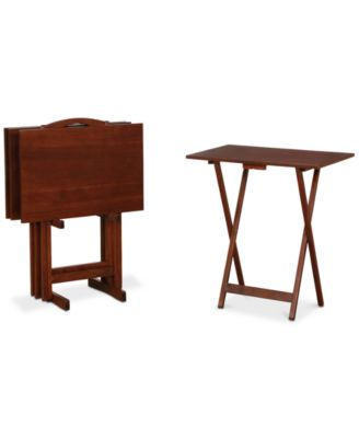 main image; main image ...  sc 1 st  Macy\u0027s & Furniture Aera Tray Tables 5-Pc. Set Quick Ship - Furniture - Macy\u0027s