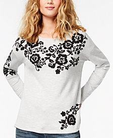 I.N.C. Embroidered Sweatshirt, Created for Macy's