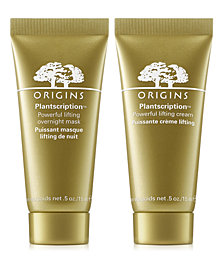 Receive a FREE Plantscription Anti-Aging Duo with $65 Origins Purchase! (up to a $67 value!)