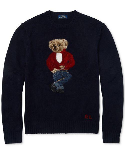 Polo Ralph Lauren Mens Polo Bear Sweater - Sweaters - Men -8349