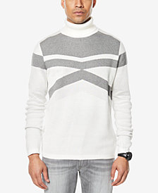 Sean John Men's Textured Tonal Pattern Turtleneck, Created for Macy's