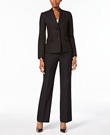 Le Suit Two-Button Textured Jacket Pantsuit