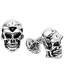 Men's Skull Cuff Links in Sterling Silver