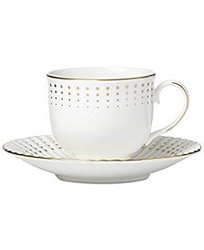 Golden Waterfall Tea Cup/Saucer