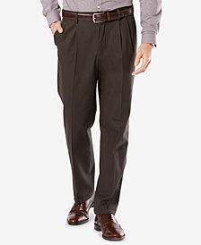 Dockers Big & Tall Signature Classic Fit Pleated Lux Cotton Stretch Khaki Pants D3