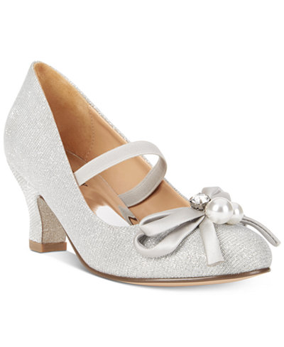 Badgley Mischka Milah Pearl Heels, Little Girls (11-3) & Big Girls (3.5-7)