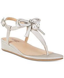 Badgley Mischka Talia Pearl Bow Sandals, Little Girls (11-3) & Big Girls (3.5-7)
