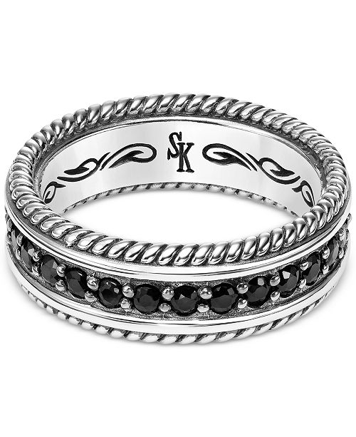 a380234bf Scott Kay Men's Black Sapphire Ring (1-3/4 ct. t.w.) in Sterling ...