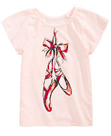 Epic Threads Ballet Shoes T-Shirt, Little Girls, Created for Macy's
