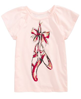Epic Threads Ballet Shoes T-Shirt, Toddler Girls, Created for Macy's