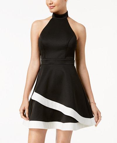 City Studios Juniors' Backless Fit & Flare Dress