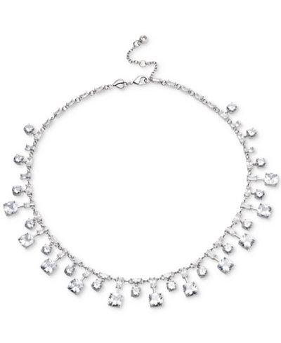 Carolee Silver-Tone Cubic Zirconia Collar Necklace