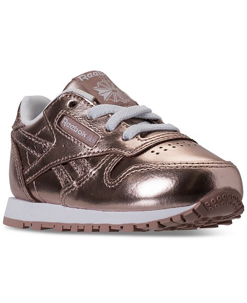 5a4c794c9c3 ... Reebok Toddler Girls  Classic Leather Metallic Casual Sneakers from  Finish ...