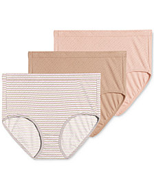 Jockey Elance Breathe Cotton 3 pack Briefs 1542, also available in extended sizes