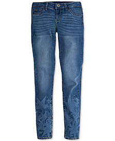Levi's® 710 Super Skinny Bleach-Out Star Jeans, Big Girls